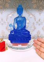 Special offer 2019 HOME patron saint efficacious Protection # Buddhism Amitabha Amitayus the Medicine Buddha crystal statue 22CM