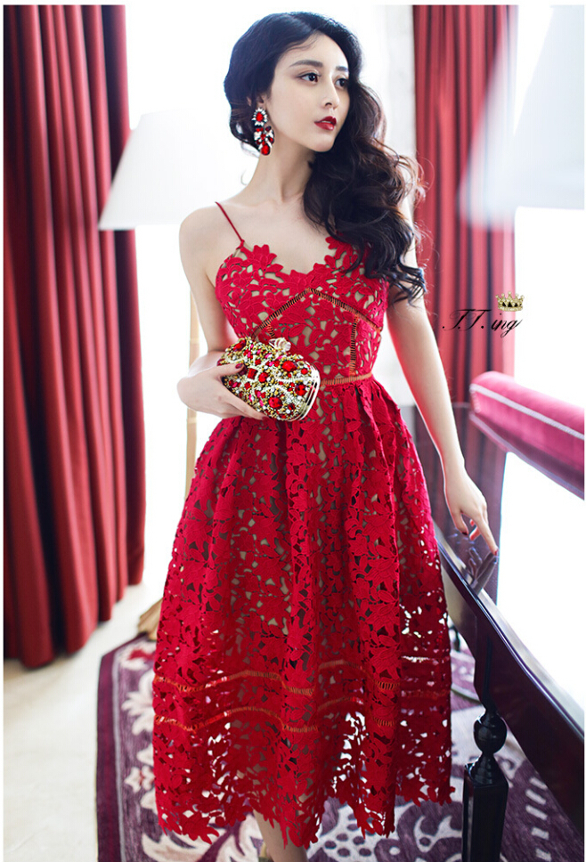 Online Buy Wholesale red crochet dress from China red crochet ...