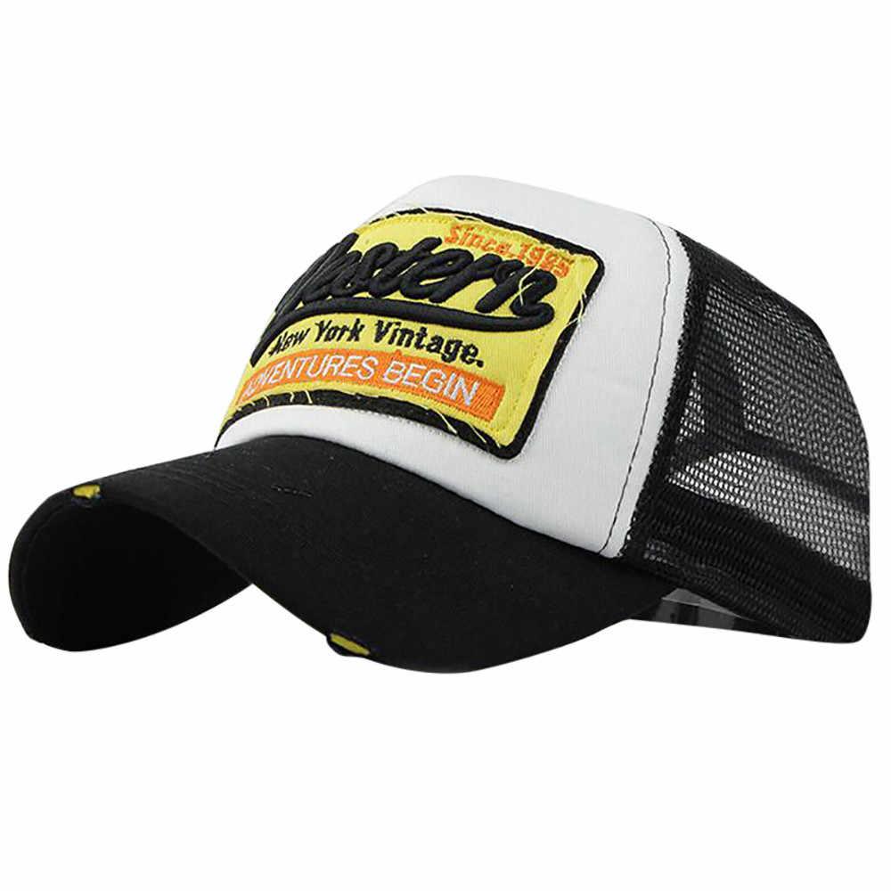 Nueva 1 unid verano carta bordado gorra de béisbol sombreros para hombres  mujeres sombreros hip hop 8c9bcad86df