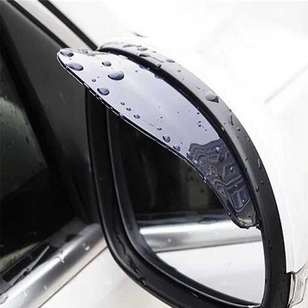 2 piezas coche espejo retrovisor lluvia ceja pegatinas accesorios para mercedes bmw e46 fiat panda bmw e90 audi a4 b8 fiat