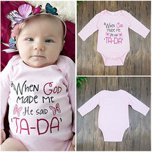 Cotton Kids Baby Boys Girls Warm Infant Long Sleeve Letters Jumpsuit Pink Bodysuit Cotton Clothes Outfits