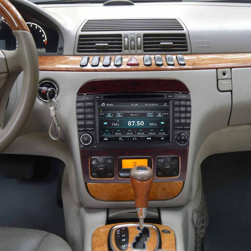 Josmile 2 Din reproductor Multimedia DVD automotriz para Mercedes/Benz/W220/W215/S280/S320 /navegación por Radio GPS de clase S350/S400 S