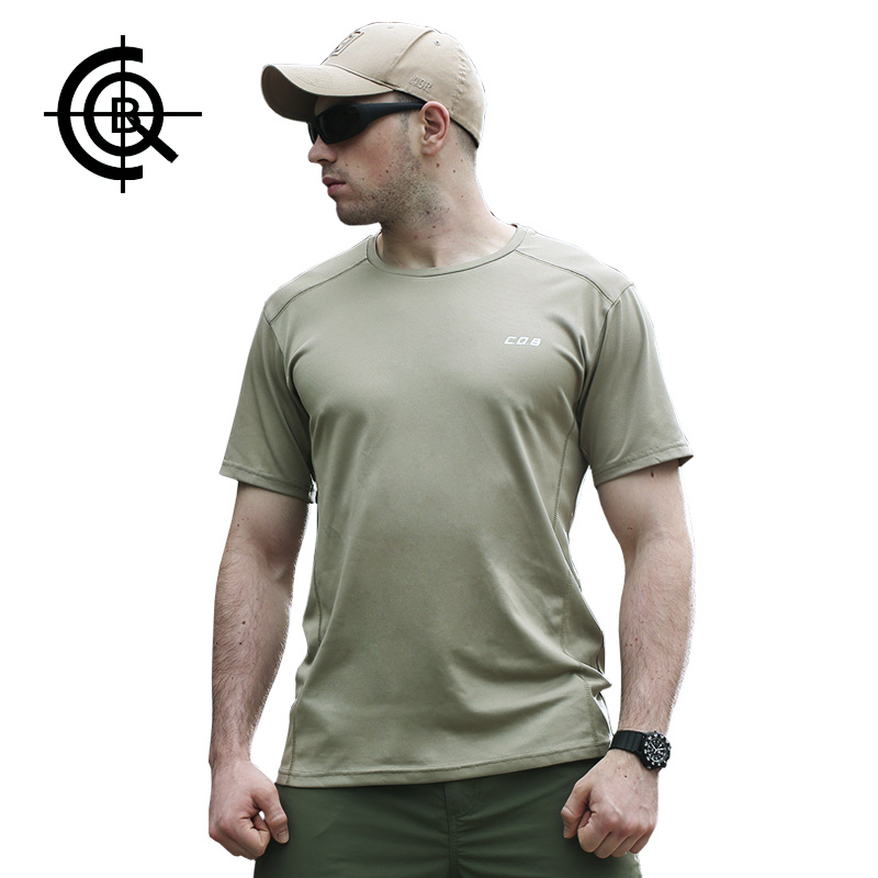 CQB Summer Tactical Quick Dry Mens T-shirt Outdoor Military Training Elastic Tees Camping Breathable T-shirt CYF0513