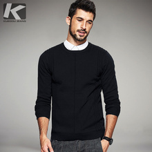 2017 Spring Mens Informal Sweaters Striped Black Colour Knitted Model Clothes Man's Slim Match Knitwear Tops Male Knitting Pullovers