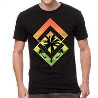 Geometrische Reggae Palms Urban Design männer Schwarz T-shirt NEUE Größen S-2XL