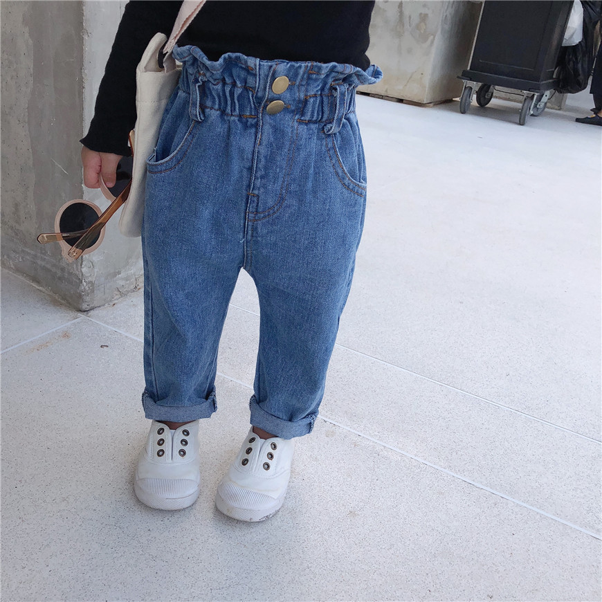 Aus Dem Ausland Importiert Celveroso Frühling Herbst Jungen Mädchen Mode Lose Jeans Kinder All-gleiches Casual Denim Hosen Kinder Hosen 1-6y