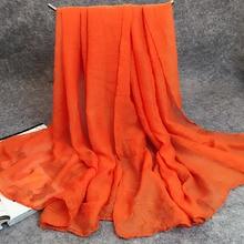 solid color autumn winter basic shawls scarf fashion casual foulard all match cotton blend womenmen long scarves 17060cm - Foulard Color