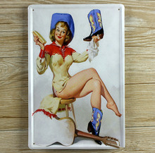 "RZXD-096″Shoe sexy woman""Vintage Metal Painting Tin Signs Bar Pub  Wall Decor Retro Mural Poster Home Decor Craft 20X30 CM"
