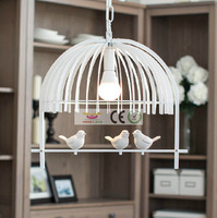 Iron Retro Living Room Lights Bedroom Pendant Lamp E27 LED Lamps Bird Creative Children Chandelier AC110