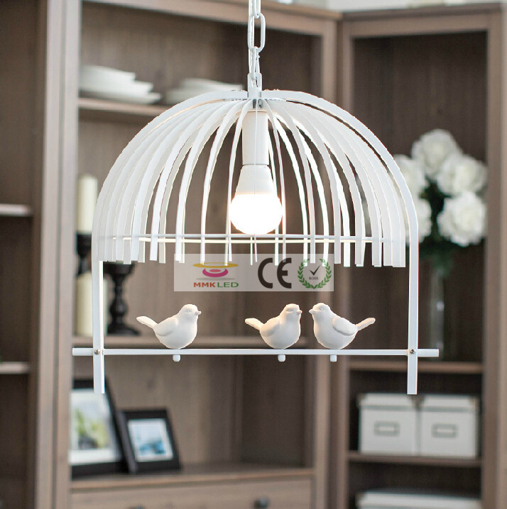 Iron retro living room lights bedroom pendant lamp E27 LED lamps bird creative children chandelier, AC110-240V, LED Bulb free european rural bird marble hemp rope chandelier cafe restaurant corridor balcony chandelier size 33 38cm e27 ac110 240v
