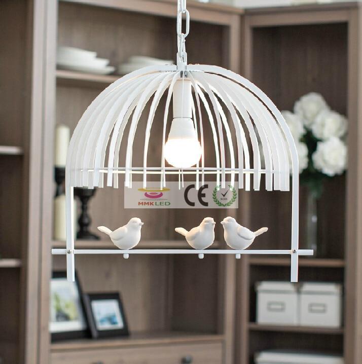 Eisen Retro Wohnzimmer Lichter Schlafzimmer Pendelleuchte E27 Led Lampen Vogel Kreative Kinder Kronleuchter AC110