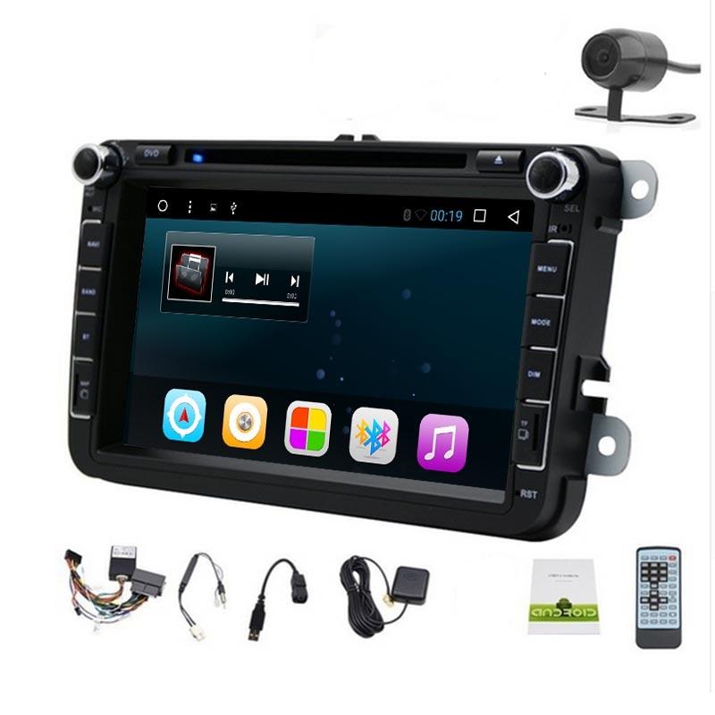 Android 8.0 lecteur DVD GPS de voiture 8 pouces 2 DIN 1024*600 pour Vollkswagen VW Passat B6 B7 Passat CC Jetta Polo siège de Golf T6