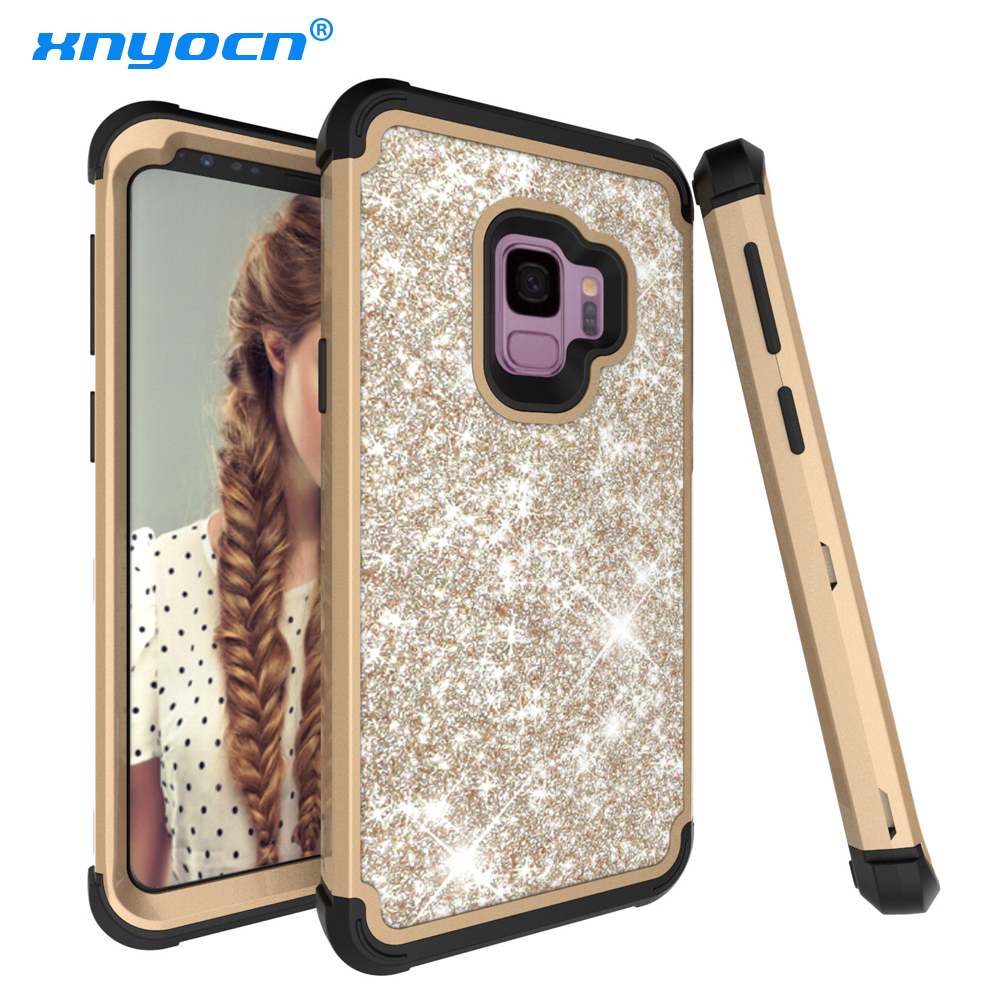 3 In1 Bling <font><b>Case</b></font> for Coque <font><b>Samsung</b></font> S9Plus <font><b>Case</b></font> <font><b>Note9</b></font> Etui <font><b>Samsung</b></font> Note 9 <font><b>Case</b></font> <font><b>360</b></font> Protect for Funda <font><b>Samsung</b></font> Galaxy S9 Plus Cover image