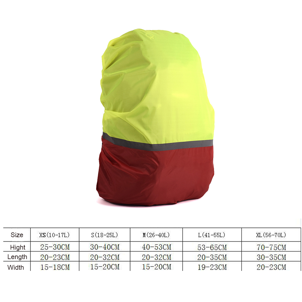Image 5 - 10L 70L Portable Reflective Light Waterproof Dustproof Backpack Rain Cover  Ultralight Shoulder Protect Outdoor Tools Hiking Bag-in Raincoats from Home & Garden
