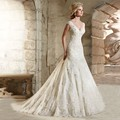 Vestido de Noiva Vintage Mermaid Wedding Dresses Lace Appliques Bead Robe de Mariage Vestidos de Novia Sexy Back Bride Dresses