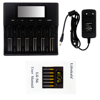 NEW 2019 LiitoKala Lii S6 Battery charger 18650 Charger 6 Slot Auto Polarity Detect For 18650 26650 21700 32650 AA AAA batteries