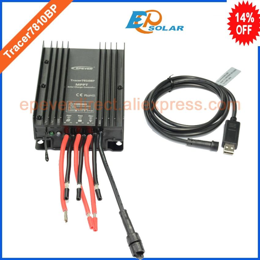 Здесь можно купить  MPPT charging 30A 30amp solar portable regulator Tracer7810BP 12v 24v auto type with USB PC cable EPEVER  Электротехническое оборудование и материалы