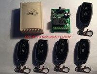 433 ميجا هرتز العالمي لاسلكي للتحكم التبديل ac 250 فولت 110 فولت 220 فولت 2ch حدة التقوية استقبال و 5 قطع rf 433 ميجا هرتز النائية الضوابط