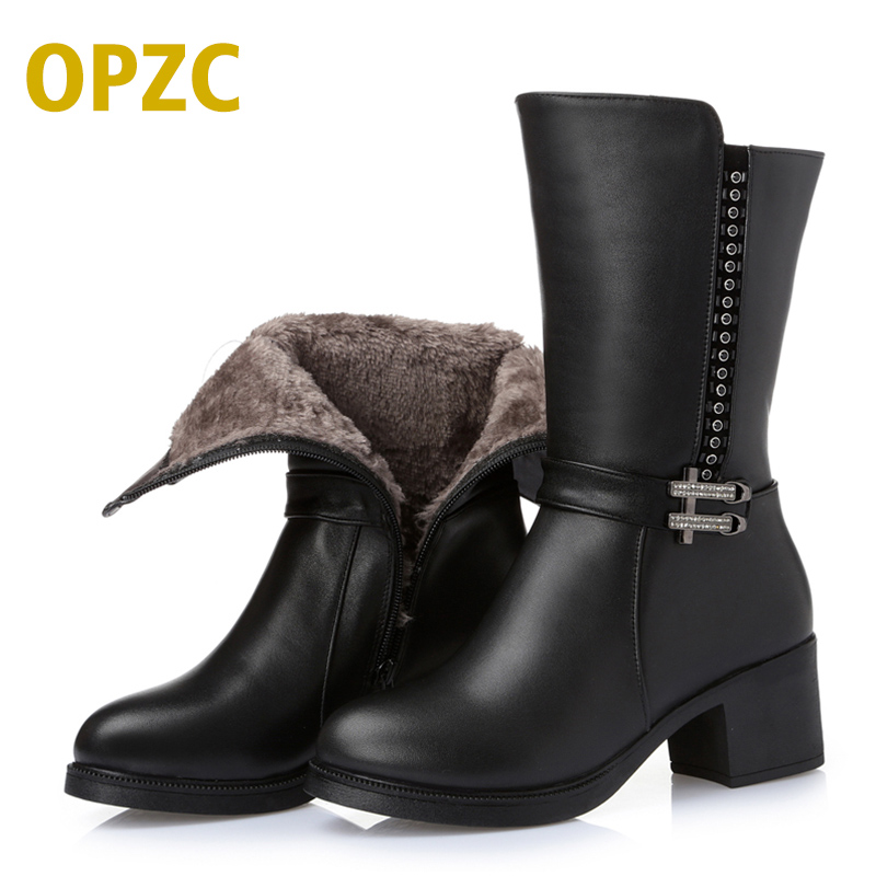 2018 Winter100% genuine leather women boots, the new cowhide with the motorcycle boots, in the tube of wool boots, free shipping бра odeon light ragon 2867 1w