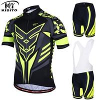 KIDITOKT Flour Yellow Maillot Rock Bicycle Wear MTB Cycling Clothing Ropa Ciclismo Bike Cycle Uniform Racing