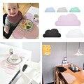 Silicone Placemat 47x27 cm FDA Bebê Crianças Nuvem Em Forma de Placa de Esteira de Tabela Tapete Esteira da Barra Conjunto de Cozinha de Casa almofadas, BPA Livre