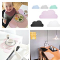 Silicone Placemat 47x27cm FDA  Bar Mat Baby Kids Cloud Shaped Plate Mat Table Mat Set Home Kitchen Pads,BPA Free