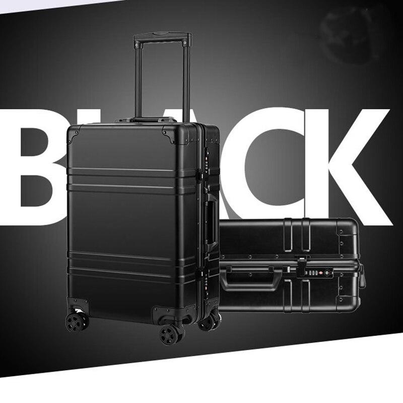 Hohe qualität 100% aluminium legierung spinner reise marke koffer hand gepäck trolley mit rad
