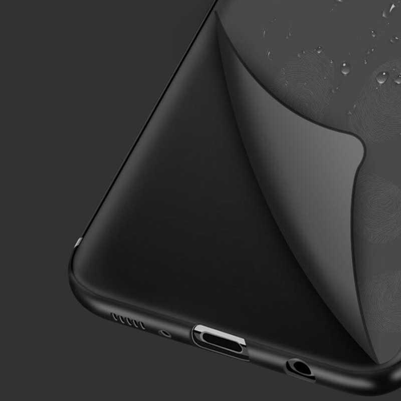 ماتي الأسود حقيبة لهاتف سامسونج غالاكسي A70 A60 A50 A40s A30 A20 A10 M30 M20 M10 A20E S8 S9 S10 زائد S7 s6 E Celular لينة غطاء من البولي يوريثان الحراري