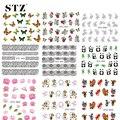 1Sheets Hot 31 Designs Retail Nail Art Sticker DIY Beauty Water Transfer Decals Flower/Cartoon/Animal Printing  STZ032-062