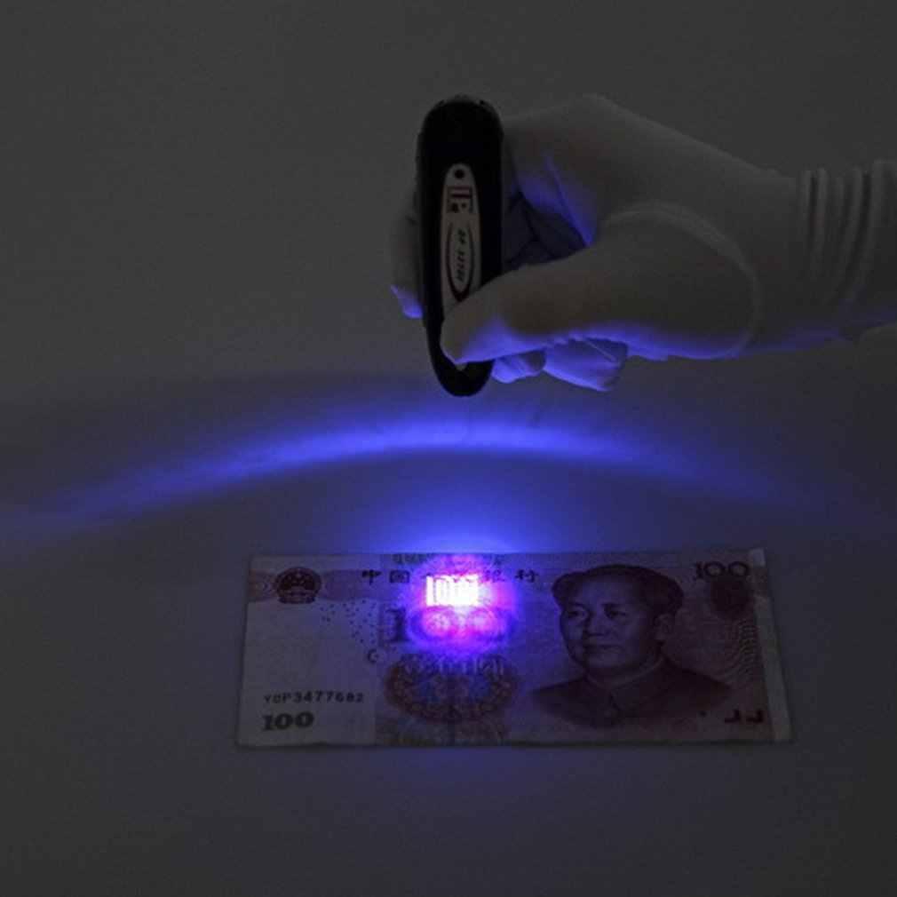 2 trong 1 Xách Tay Tiền Phát Hiện Tiền Giả Phát Quang Kích Thước ABS Đèn LED Ánh Sáng Siêu Sáng Mini Tia UV Đèn Đèn Pin Cắm Trại ánh sáng