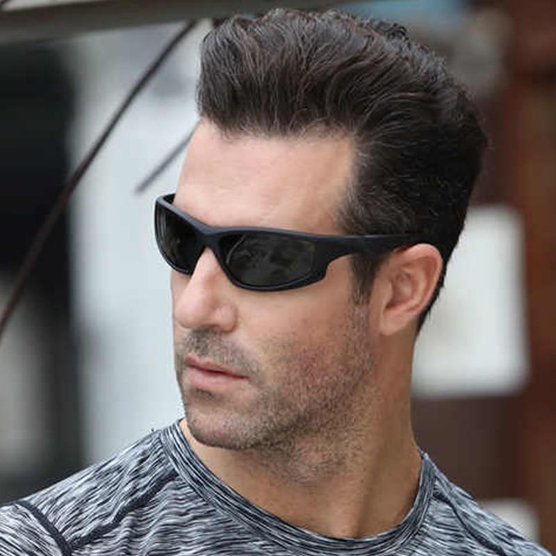Купить с кэшбэком Photochromic Sunglasses Driving Men Polarized Chameleon Discoloration Sun Glasses Men Change Color Cycling Sport Fashion Glasses