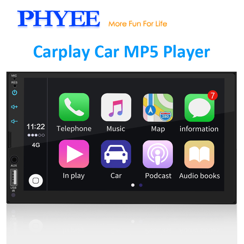 2 Din Apple Carplay Autoradio Bluetooth 7