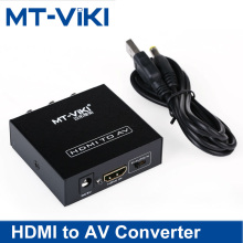 MT-Viki HDMI zu AV Converter Audio  video synchronization Digital to Analog RCA Adapter Box High Quality Switcher MT-H-AV02 new ezcap272 av capture analog to digital video recorder converter with audio video input av hdmi output to microsd tf card