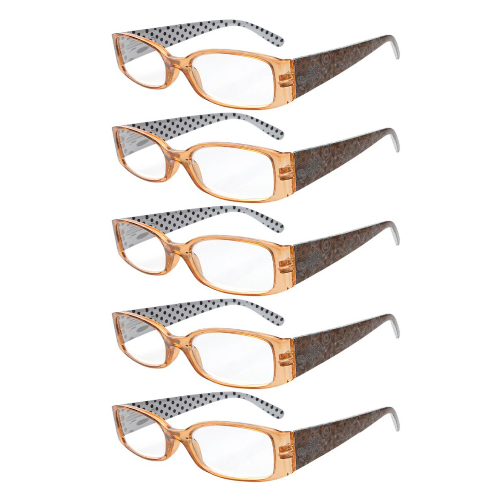 04d5054c933 R040P Eyekepper 5 Pack Spring Hinges Polka Dots Patterned Temples Reading  Glasses Sun Readers +0.50 +4.00-in Reading Glasses from Apparel Accessories  on ...