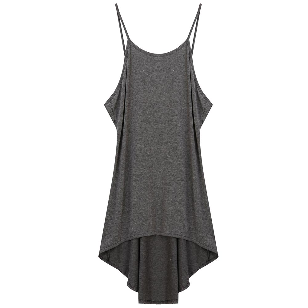 Casual Loose <font><b>Beach</b></font> <font><b>Women</b></font> <font><b>Dress</b></font> Cotton Blend <font><b>Fashion</b></font> Sleeveless Solid <font><b>Sexy</b></font> Backless <font><b>Summer</b></font> Irregular Spaghetti Strap Mini image