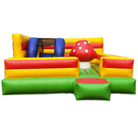 Outdoor playground items air bouncer mushroom inflatable trampoline for sale