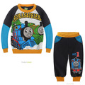 new Fashion Boys Cartoon Locomotive Set Thomas & Friends Theme Suit with Fleece Children's Outfit Kids Clothes Christmas Gift