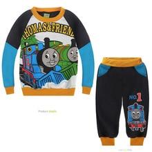 New Cartoon mode garçon Locomotive mis Thomas & Friends thème costume avec polaire enfants Outfit enfants vêtements de noël cadeau