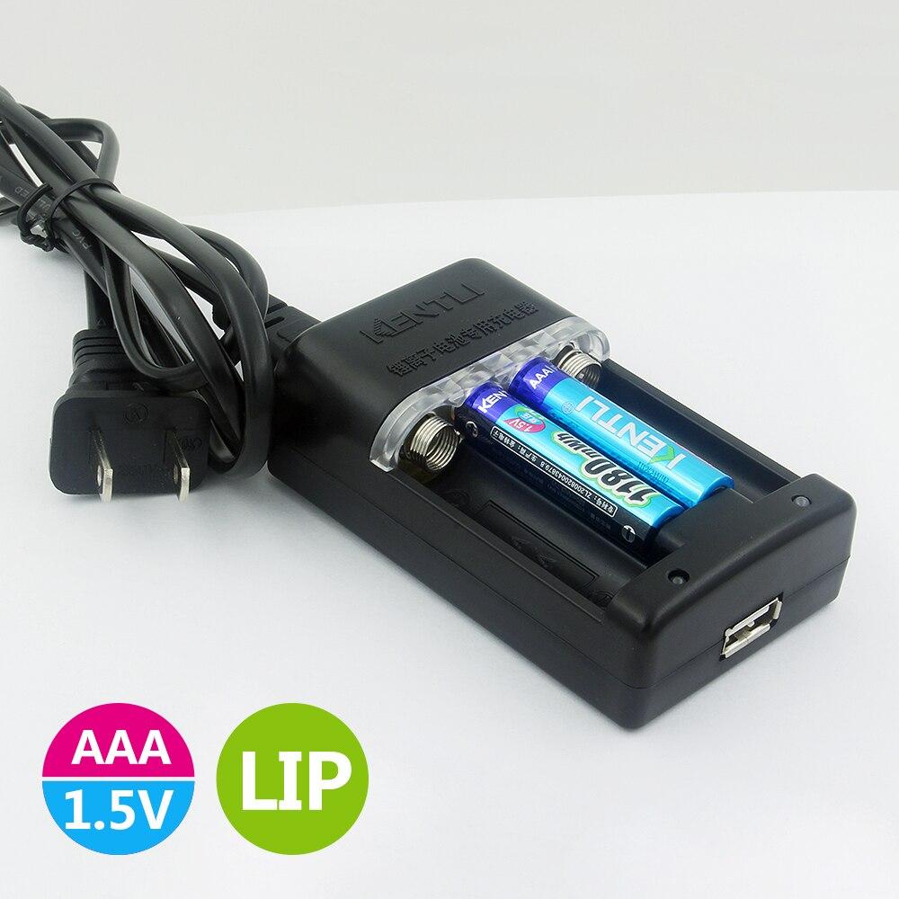 KENTLI 6pcs1. 5 v AAA батарея 1180mWh AAA литий ионная полимерная литиевая батарея + 1 шт. быстрое зарядное устройство - 3
