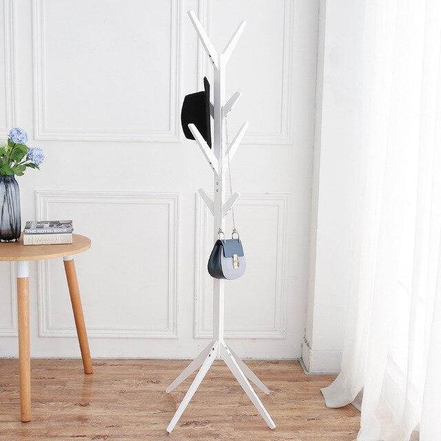 0b126de4d Muebles de moda Perchero de madera maciza sala de estar perchero expositor  bufandas sombreros bolsos ropa