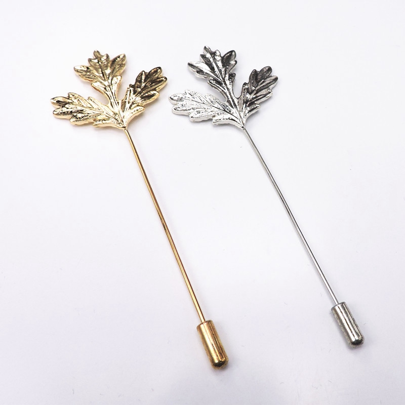 Maple Leaf Brooch Vintage Golden Maple Brooch Carving Leaves 2 Colors Brooch for Women And Men Clothing Dress Accessories