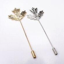 цена Maple Leaf Brooch Vintage Golden Maple Brooch Carving Leaves 2 Colors Brooch for Women And Men Clothing Dress Accessories онлайн в 2017 году