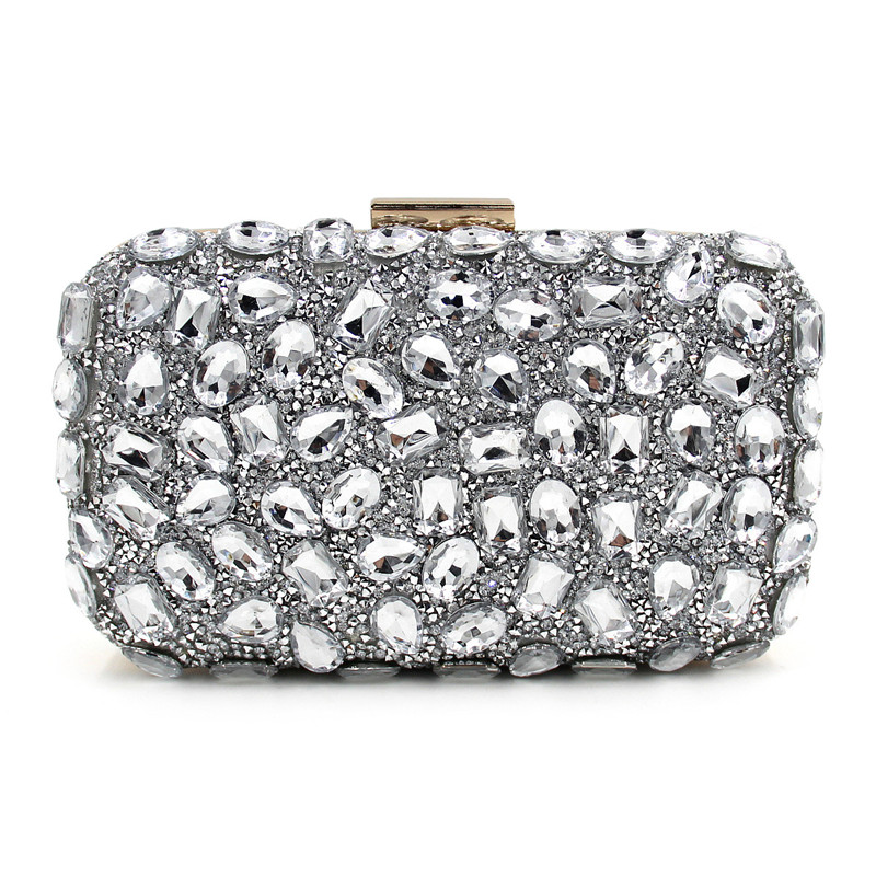 Color full lady party diamond wallet Women Evening Bag Day Clutches Crystal Banquet Wedding Party Bag Beaded Evening Clutch Bag luxurious bling crystal evening bag full diamond flower women day clutches banquet wedding chain shoulder handbag
