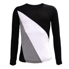 Hot Women T-Shirt Crew Neck Long Sleeve Bottoming shirt Casual Tops