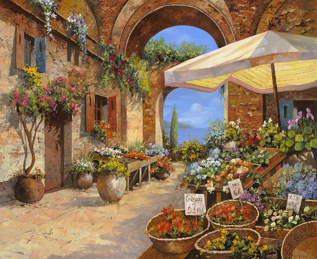 Pintura de paisaje para la venta El Mercado Del Lago