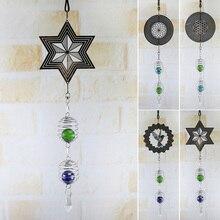 3D металлическая подвесная вертушка, ветряной колокольчик со спиральным хвостовым шаром, домашний декор LXY9