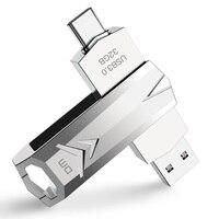 DM PD098 USB флеш-накопитель 32 Гб OTG металлический USB 3,0 флеш-накопитель usb флеш-накопитель Тип c высокая скорость Флешка флеш-накопитель карта памя...