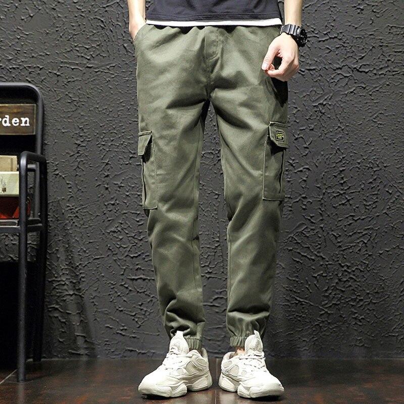 Мужские черные брюки, мужские шаровары с несколькими карманами, хип хоп брюки, уличная одежда, спортивные штаны, мужские повседневные модные брюки карго для мужчин Брюки-карго      АлиЭкспресс