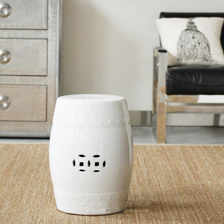 Modern brief style chinese japanese style white coins ceramic cutout drum stool dresser stool on Aliexpress.com | Alibaba Group : ceramic barrel stool - islam-shia.org