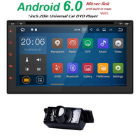 2 din AutoRadio Android 6.0 Car NO DVD Multimedia Head Unit Tape Recorder For Nissan xtrail qashqai Audio GPS Navi BT Wifi TV3G
